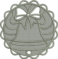 FSL Christmas Bell Ornament embroidery design