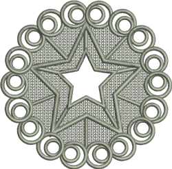 FSL Christmas Star Ornament embroidery design