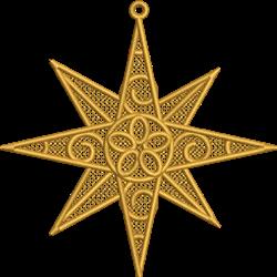 FSL Christmas Star embroidery design