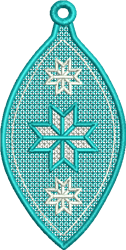 FSL Blue Snowflake embroidery design
