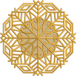 FSL Swirly Snowflake embroidery design