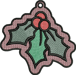 FSL Holly Ornemet embroidery design