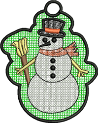 FSL Snowman embroidery design