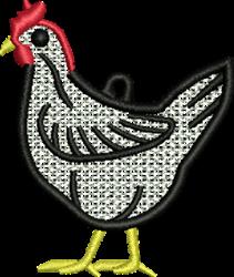FSL Chicken embroidery design