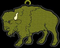 FSL Buffalo Ornament embroidery design