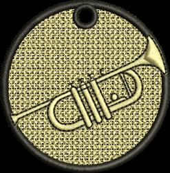 FSL Trumpet Ornament embroidery design