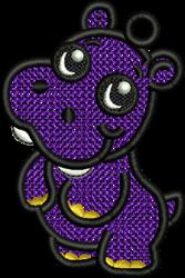 FSL Hippo embroidery design