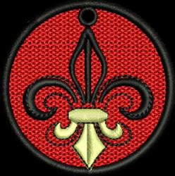 FSL Fleur  De Lis embroidery design