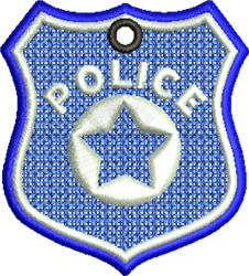 FSL Police Badge embroidery design