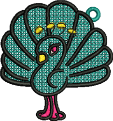 FSL Peacock embroidery design
