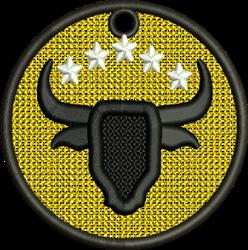 FSL Bull Ornament embroidery design
