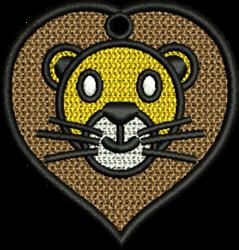 FSL Lion Head embroidery design