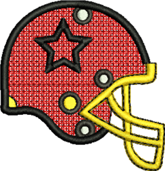 FSL Football Helmet embroidery design