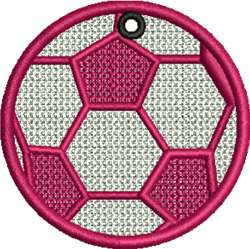 FSL Pink Soccer Ball embroidery design