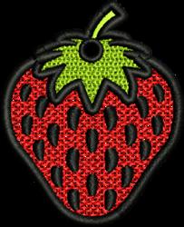 FSL Strawberry embroidery design