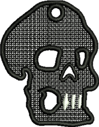 FSL Halloween Skull Ornament embroidery design