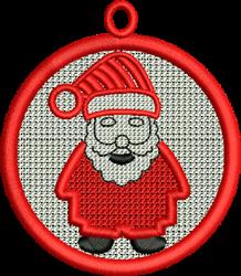 FSL Santa Ornament embroidery design