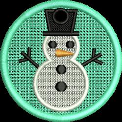 FSL Snowman Ornament embroidery design