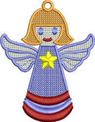 Angel Ornament embroidery design