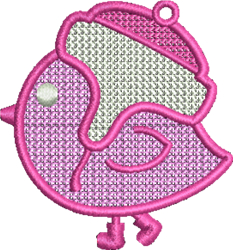Winter Bird embroidery design