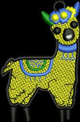 Llama Ornament embroidery design