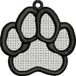 FSL Paw Print embroidery design