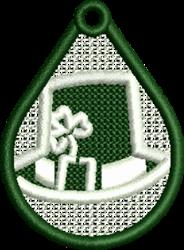 Irish Hat Pendant embroidery design