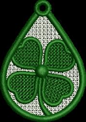 FSL Shamrock embroidery design
