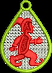 FSL Elf Teardrop embroidery design
