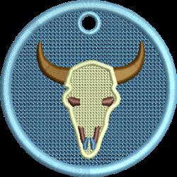FSL Cow Skull Ornament embroidery design