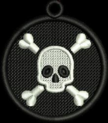 FSL Halloween Skull embroidery design