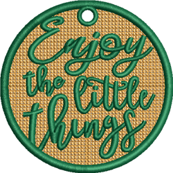 Enjoy Little Things embroidery design