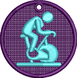 FSL Exercise Bike embroidery design