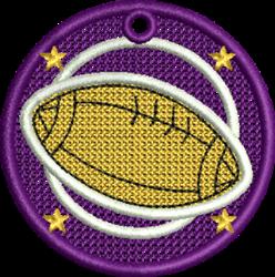 FSL Football embroidery design