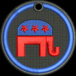FSL Democrat Elephant embroidery design
