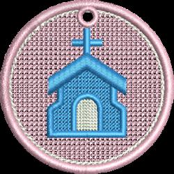 FSL Church embroidery design
