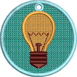 FSL Light Bulb embroidery design
