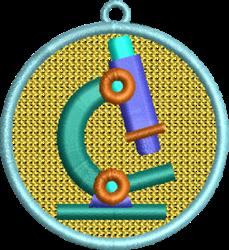 FSL Microscope embroidery design