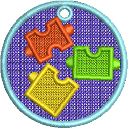 FSL Puzzle embroidery design