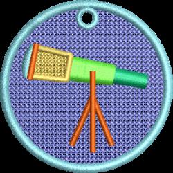 FSL Telescope embroidery design