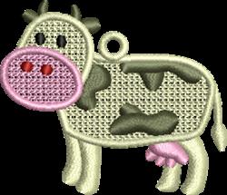 FSL Cow Ornament embroidery design