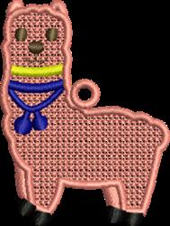 FSL Llama embroidery design