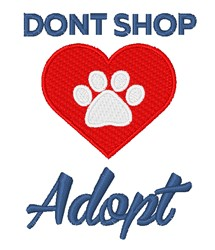 Dont Shop Adopt embroidery design