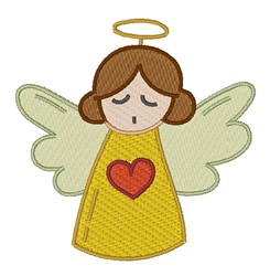 Heart Angel embroidery design