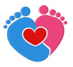 Love Footprints embroidery design