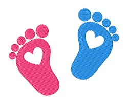 Foot Prints embroidery design