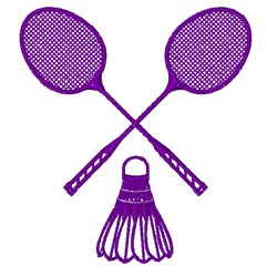 Badminton Rackets embroidery design