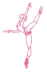 Ballet Outline embroidery design