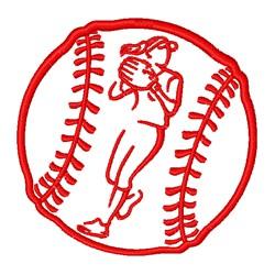 Softball Girl embroidery design