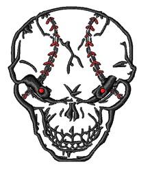 Baseball Skull embroidery design